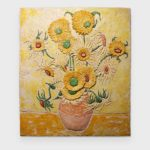 The sunflower painted radiant heater
