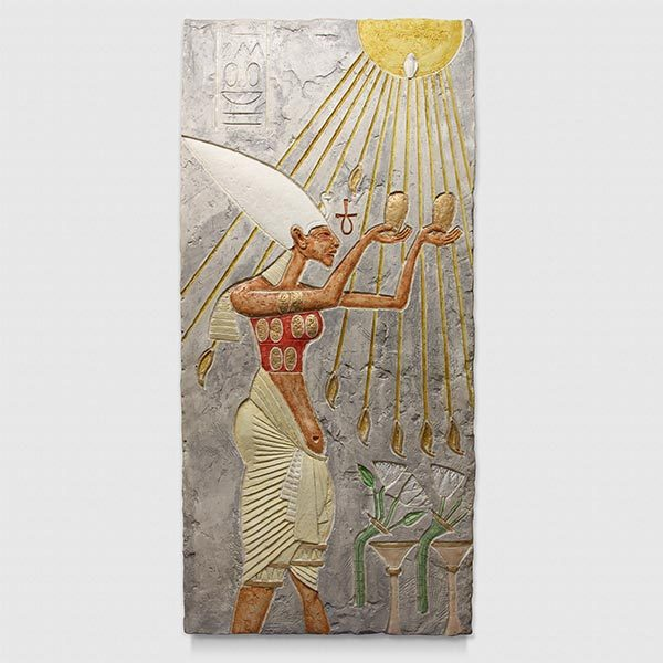 Egyptian God Painted radiant heater