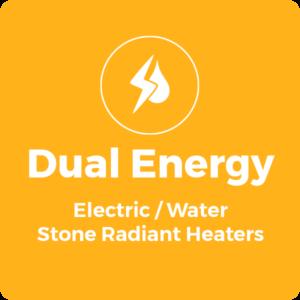 Dual Power Stone Radiant Heaters