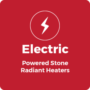 Electric powered Stone Radiant Heaters