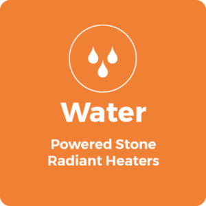 Water Powered Stone Radiant Heaters